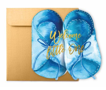 Lux Card- Baby Blue Sandals