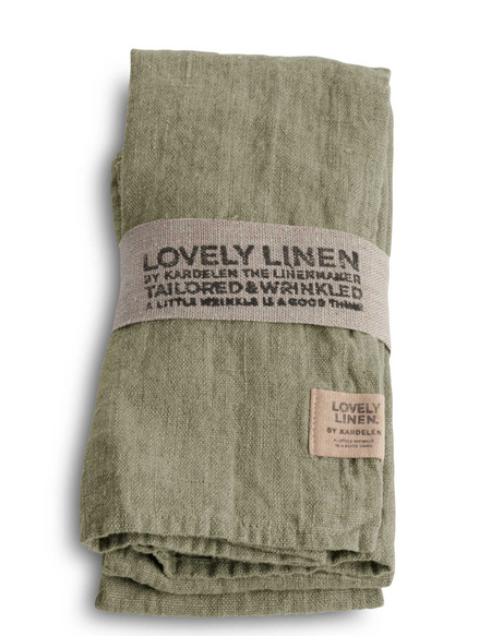 Lovely Linen Avocado Napkins 45x45cm Set 4