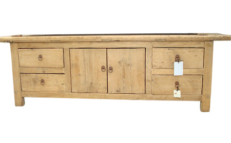 Elm TV Cabinet with Overhang W180cm D40cm H60cm