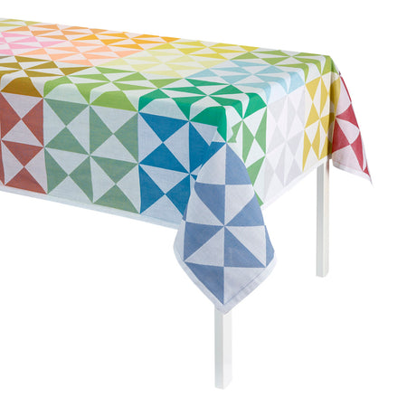 Table Cloth Origami Multico 140x260cm 100% Cotton