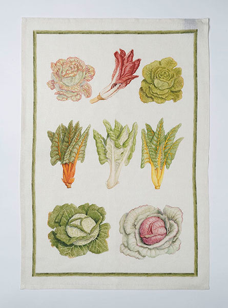Vegan Salad Linen Tea Towel