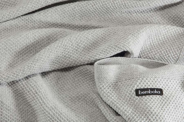 Bemboka Pure Cottton King/Queen Blanket- Moss Stitch