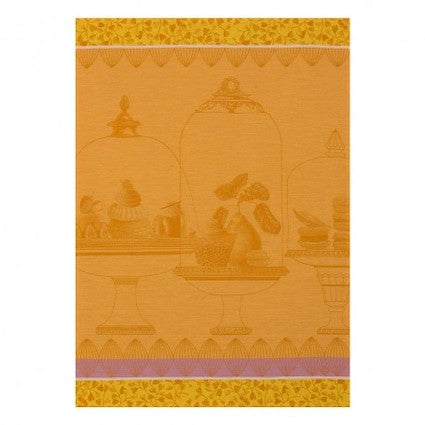 Tea Towel Plaisirs Gourmand Apricot 60x80 100%