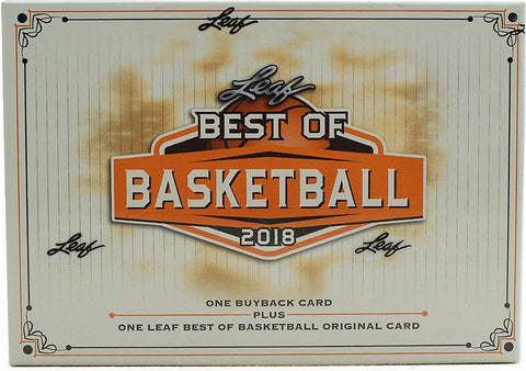 2018 Leaf Best of Basketball Hobby Box  (PERSONAL BREAK)