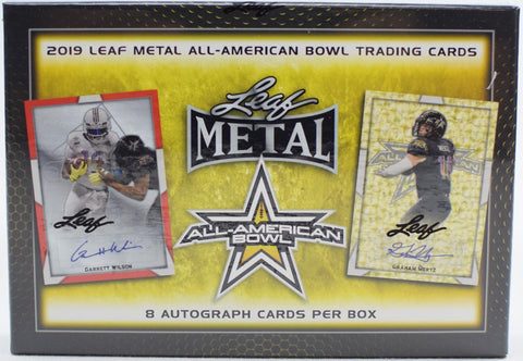 2019 Leaf Metal All-American Football Hobby Box