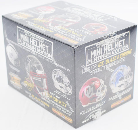 2019 TriStar Autographed Mini Helmet Platinum Football Hobby Box