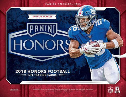 #3 -- 2018 Honors Football Group Break (10-Box Case)