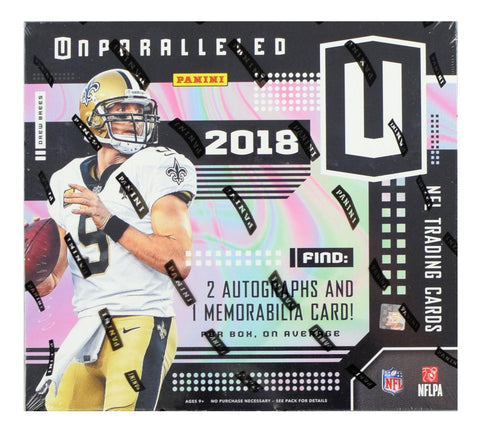 2018 Unparalleled Football Hobby Box (PERSONAL BREAK) **READ BELOW**