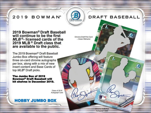 #7 - 2019 Bowman Draft Jumbo PYT Case Break (12/7 Break)