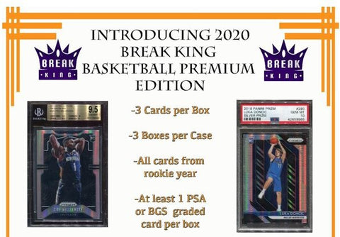 #1 - Break King Basketball Random Player FULL CASE Break (1/18 Break)