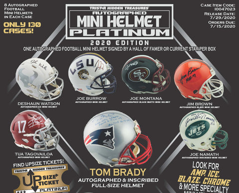 2020 Tristar Platinum Autographed Mini Helmet (PERSONAL BREAK) **READ BELOW**