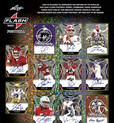 2020 Leaf Flash Football Hobby Box (PERSONAL BREAK)