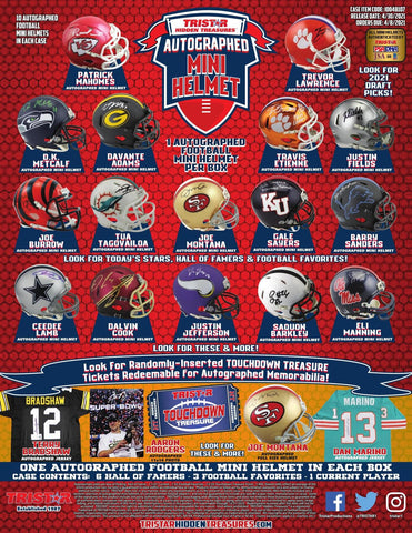 #1 - Tristar Autographed Mini Helmet 5 Box RT (5/15 Break)
