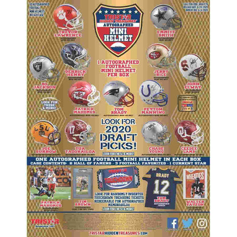 2020 Tristar Hidden Treasures Autographed Mini Helmet (PERSONAL BREAK) **READ BELOW**