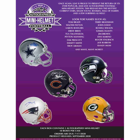 #17 - 2020 Leaf Mini Helmet RT 1/2 Case 5 Box Break (11/28 Break)