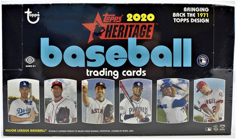 2020 Topps Heritage Baseball Hobby Box (PERSONAL BREAK)