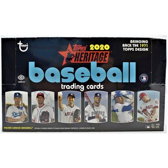 2020 Heritage Baseball Hobby Box (PERSONAL BREAK) **READ BELOW**
