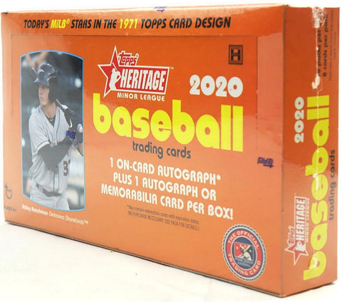 2020 Heritage Minors Hobby Box (PERSONAL BREAK) **READ BELOW**