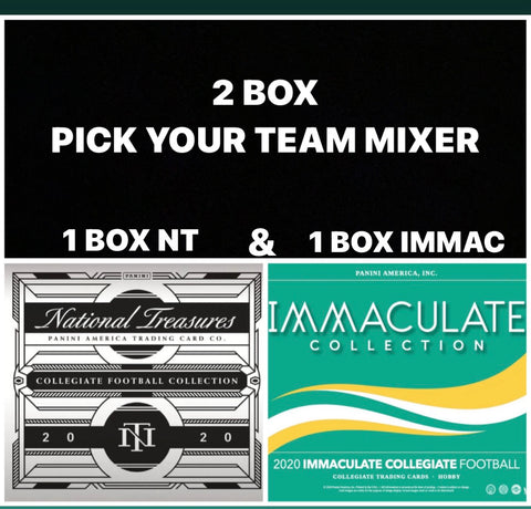 #4 - NT Collegiate Football & Immaculate Collegiate Football 2 Box Mixer PYT (10/20 Break)