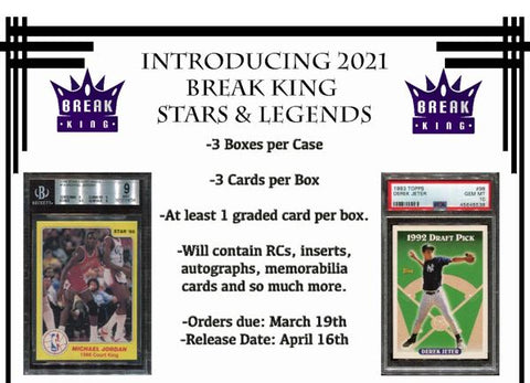 #2 - Break King Stars & Legends Multisport RANDOM HIT CASE (5/17 Break)