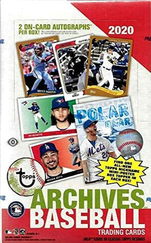2020 Topps Archives Hobby Box (PERSONAL BREAK) **READ BELOW**
