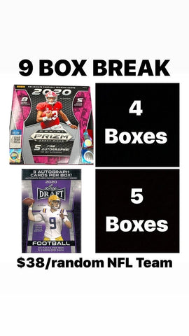 # 1 - NFL Draft Day Mega Break 9 Box Mixer (4/22 Break with Ballwasher)
