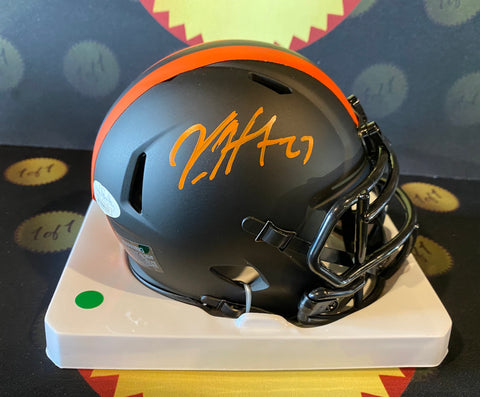 Kareem Hunt Autographed Eclipse Mini Helmet (Speed Rep)