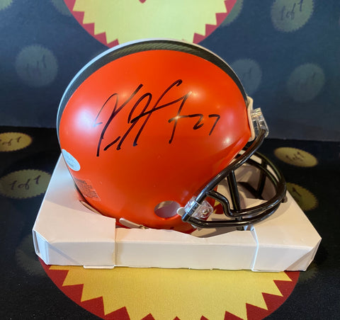Kareem Hunt Autographed Mini Helmet (Original Rep)