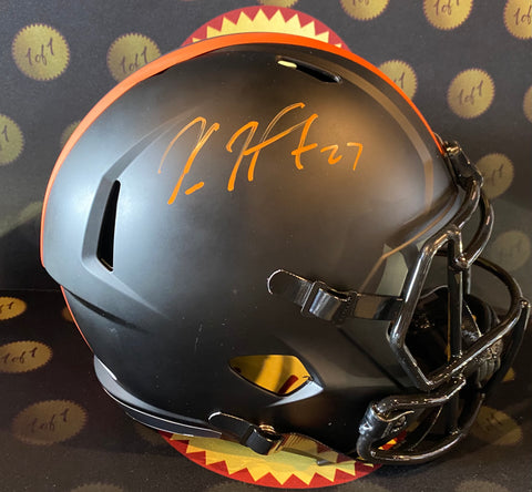 Kareem Hunt Autographed Eclipse FULL SIZE Helmet (Speed Rep)