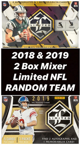 #4 - 2018 & 2019 Limited NFL 2 BOX BREAK (4/2 Break with D Bo on IG Live)