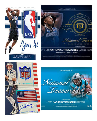 #1 - National Treasures 2 Box MIXER NBA & NFL Random Serial Number (7/14 Break)
