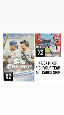 #6 - Topps Chrome Hobby/Diamond Kings 4 Box Mixer (9/20 Break)