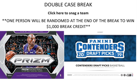 DOUBLE CASE BREAK - 2019 Prizm NBA & 2019 Contenders Draft Picks Basketball **READ FORMAT BELOW**