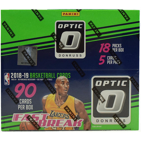 #9 -- 2018-19 Optic Fast Break PYT SINGLE BOX BREAK (4/3 Break with Ballwasher)