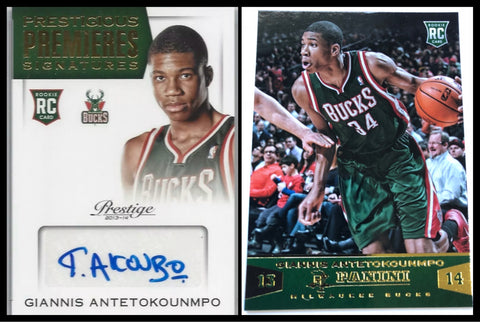 #5 - RT 2 box Mixer - 2013/14 Panini Basketball / Prestige Basketball (GIANNIS ROOKIE AUTOS)