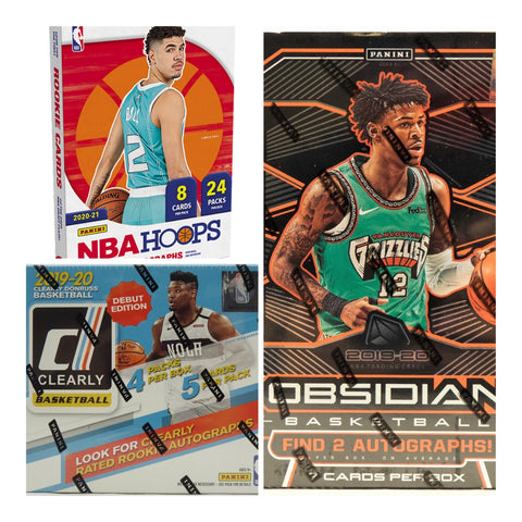 #1 - 19-20 Obisidian/Clearly Donruss/2020-21 Hoops NBA 3 Box RT Mixer (2/19 Break)