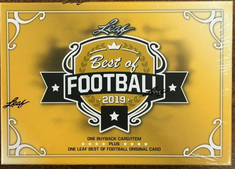 Leaf Best of Football Hobby Box (PERSONAL BREAK - BOX WILL OPEN 12/26)