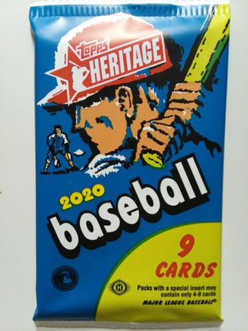 2020 Heritage Baseball Hobby Pack (PERSONAL BREAK) **READ BELOW**