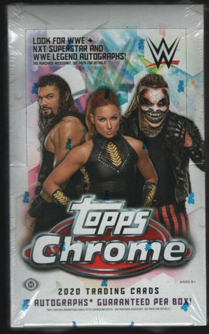 2020 Topps Chrome WWE Hobby Box (PERSONAL BREAK) **READ BELOW**