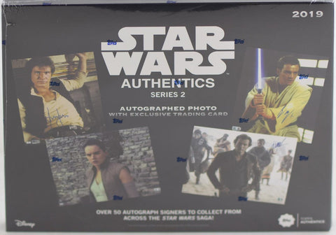 Star Wars Authentics Autographs Series 2 Hobby Box (Topps 2019)