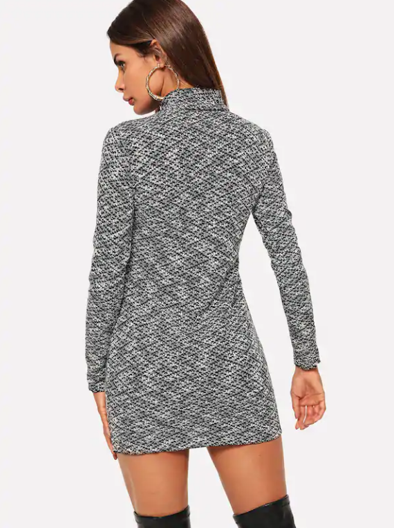 Lace-Up Front Sweater Dress Long Sleeve Knit Sweater Dress – dwdasco.com 7265d1ac3