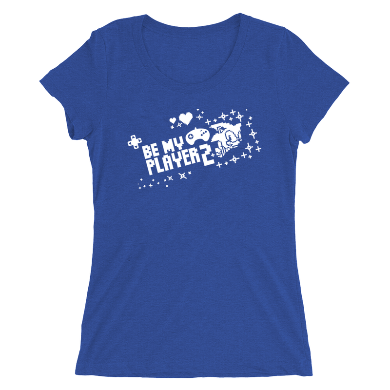 Official Modern Sonic - Be My Player 2 Blue T-Shirt