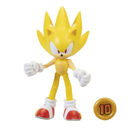"Official Sonic The Hedgehog Wave 3 Modern Super Sonic with Super Ring 10cm (4"") Figure"