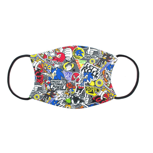 Official Sonic the Hedgehog Lets Roll Face Mask