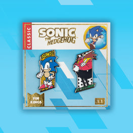 Pin Kings SEGA Sonic the Hedgehog Enamel Pin Badge Set 1.1 – Sonic & Dr. Eggman
