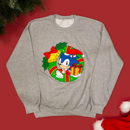 Official Classic Sonic the Hedgehog 'Christmas Wreath' Crewneck Sweater
