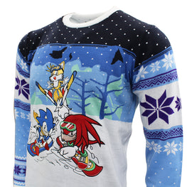 Official Sonic the Hedgehog Skiing Christmas Jumper