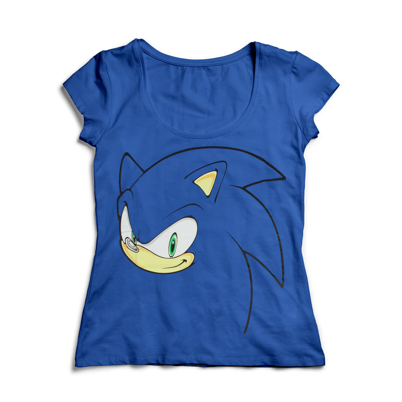 Official Sonic the Hedgehog Blue  Women's Style Sonic T-Shirt