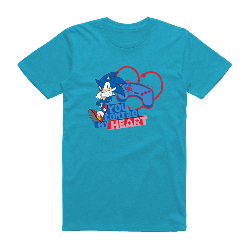 Official Modern Sonic - You Control My Heart Blue T-Shirt