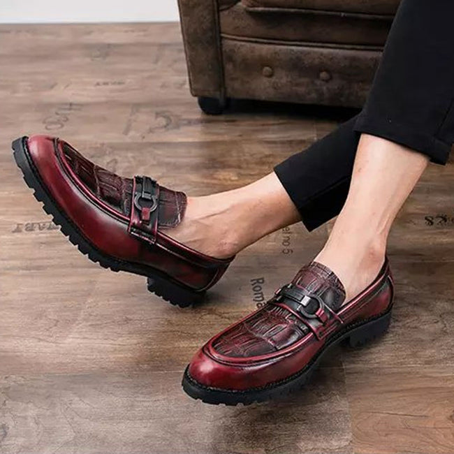 Casual Spring Men Non-Slip Loafer Round Roe Hasp